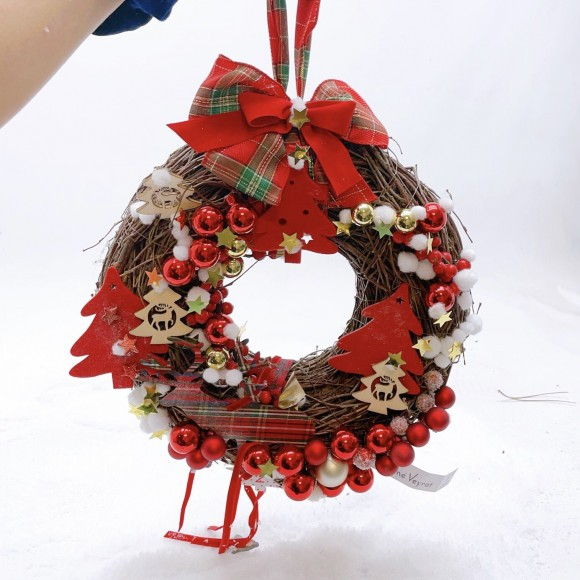 "Christmas door wreath ""Queen"""